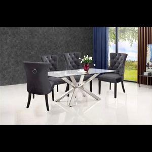 Dark Gray Dining Chairs